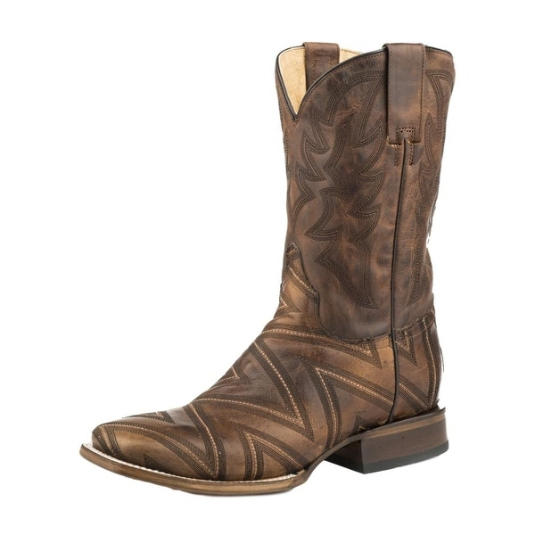 9d8c4a84747 Roper Western Boots Mens Arlo Pull On Tan