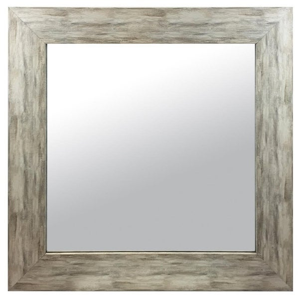 Shop Hanging Framed Wall Mounted Mirror Distressed Wood