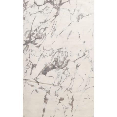 "Modern Abstract Wool/ Silk Highlight Oriental Area Rug Hand-tufted - 5'4"" x 7'8"""