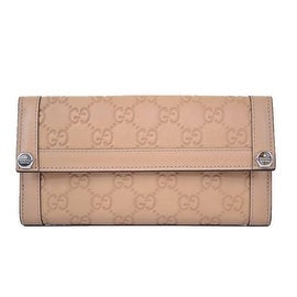 NEW GUCCI 231839 BEIGE TAN LEATHER GG MONOGRAM CONTINENTAL WALLET CLUTCH