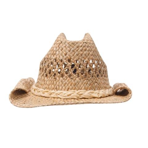 Straw Cowboy Hat - Natural Roll