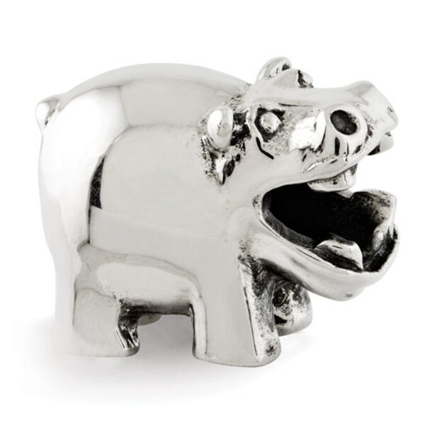 Sterling Silver Reflections Hippo Bead (4mm Diameter Hole)