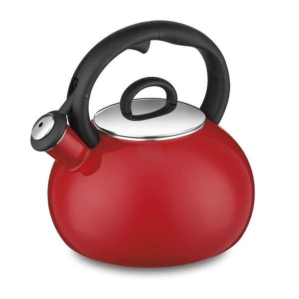 Cuisinart CTK-EOS17R Aura Enamel-on-Steel Stovetop Teakettle, Red, 2-Quart