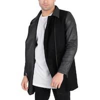 Adidas Mens Long Wool Outerwear Jacket Black