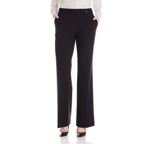 Calvin Klein Solid Black Womens Size 12 Classic-Fit Dress Pants
