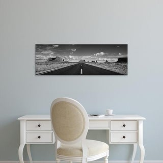Easy Art Prints Panoramic Image 'Road passing through Monument Valley, Monument Valley Tribal Park, Arizona' Canvas Art