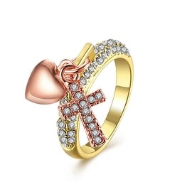 Gold Plated Charms Locked Ring