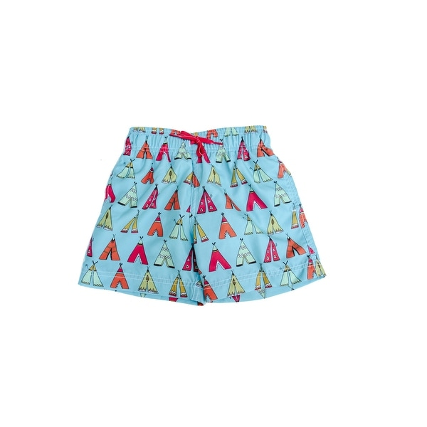 Azul Baby Boys Multi Color Little Teepee Drawstring Swim Shorts