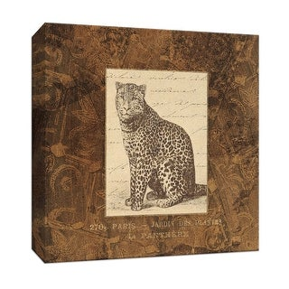 """PTM Images 9-153070  PTM Canvas Collection 12"""" x 12"""" - """"Panther"""" Giclee Safari Animals Art Print on Canvas"""