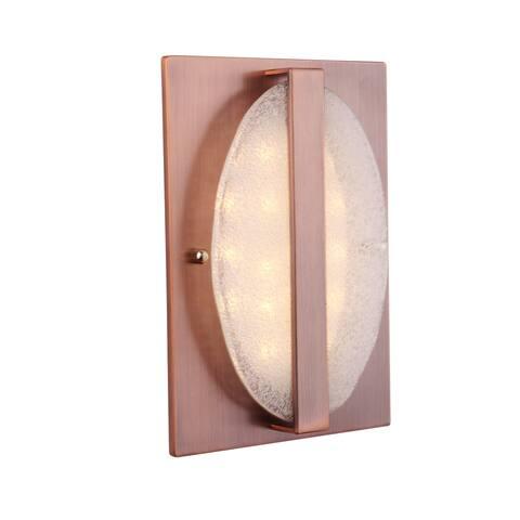 "Craftmade ICH1720 Illuminated 7"" x 5"" Recessed Door Chime with Round Artisan Glass -"