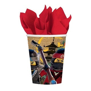 The LEGO Ninjago Movie 9oz Paper Cups, 8 Count - Multi