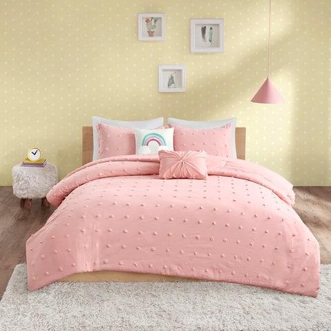 Ensley Cotton Jacquard Pom Pom Comforter Set by Urban Habitat Kids