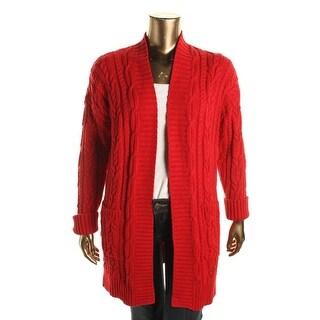 Lauren Ralph Lauren Womens Plus Knit Long Sleeves Cardigan Sweater