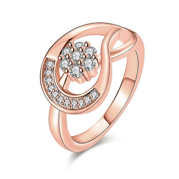 Twisted Rose Gold Horse-Shoe Ring