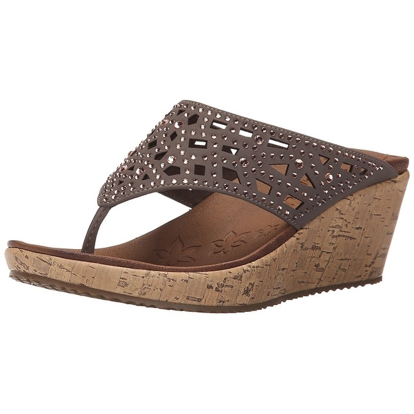 9b89f53ecffd Shop Skechers Cali Women s Beverlee - Dazzled Wedge Sandal