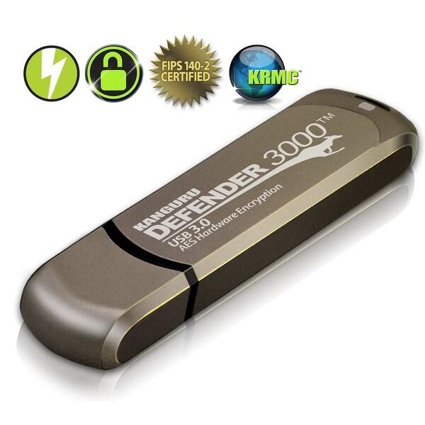 Kanguru Kdf3000-8G-Pro Defender 3000 Fips 140-2 Level 3; Superspeed Usb 3.0 Secure Flash Drive