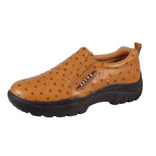 Roper Western Shoes Mens Sport Ostrich Slip On Tan 09-020-0601-0350 TA|https://ak1.ostkcdn.com/images/products/is/images/direct/10b6a390474dffb468f9bfde7c24fb1872456c96/Roper-Western-Shoes-Mens-Sport-Ostrich-Slip-On-Tan-09-020-0601-0350-TA.jpg?impolicy=medium