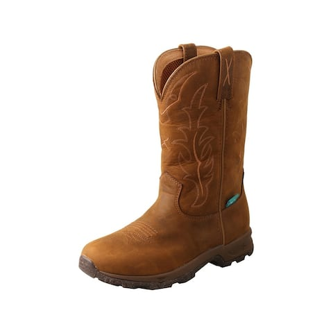 Twisted X Outdoor Boots Womens 10 Leather Hiker Saddle - Distressed Saddle