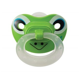 Size of 6-18 Months Animal Faces Orthodontic Pacifier - White,