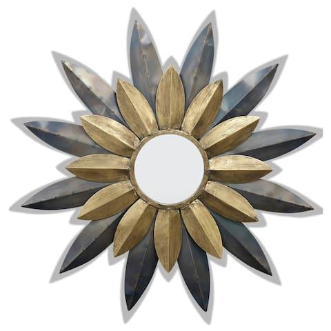 StyleCraft Star Struck Petal Gold and Silver Wall Mirror