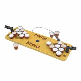 Tabletop Mini Beer Pong - Brown