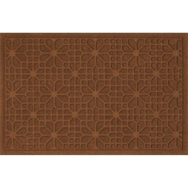 707520023 Water Guard Stained Glass Mat in Dark Brown - 2 ft. x 3 ft.