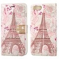 Insten Pink Eiffel Tower Leather Case Cover with Stand/ Wallet Flap Pouch/ Diamond For Apple iPhone 7 Plus - Thumbnail 2