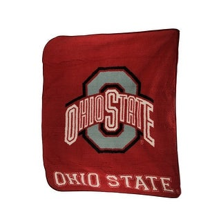 Ohio State Buckeyes Super Soft Sherpa Style Throw Blanket - Red