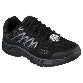 Skechers 77084 BLK Men's CONROE-DIERKS ESD Work