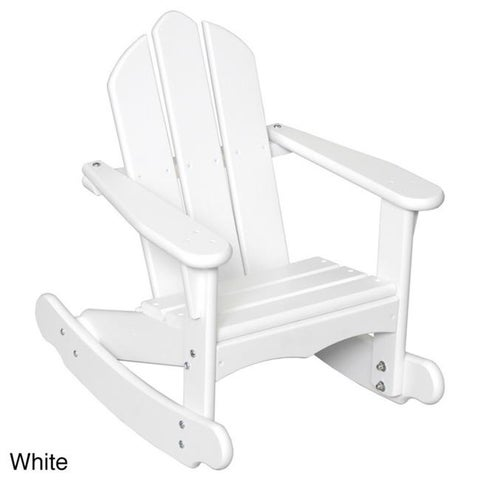 Little Colorado 141SW Childs Adirondack Rocking Chair, White