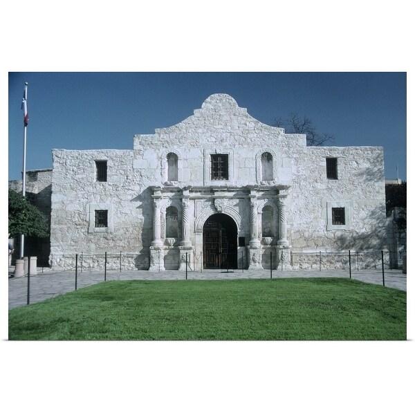 """Main entrance of The Alamo, San Antonio, TX"" Poster Print"