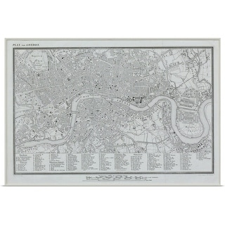 """""""Map of London, England"""" Poster Print"""