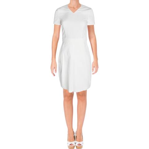 BOSS Hugo Boss Womens Dylena Wear to Work Dress Belted V-Neck