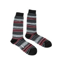 Missoni GM00CMU5696 0001 Gray/Black Calf Length Socks - Grey