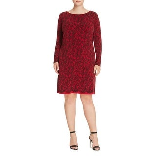 MICHAEL Michael Kors Womens Plus Wear to Work Dress Knee-Length Lace Print