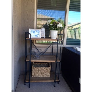 Yorktown Outdoor 3-Shelf Industrial Rack by Christopher Knight Home