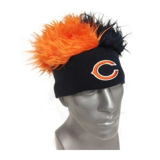 Chicago Bears Knit Beanie with Two-Tone Fuzzy Hair