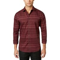 INC International Concepts Medieval Rose Striped Shirt Small S 14-14.5