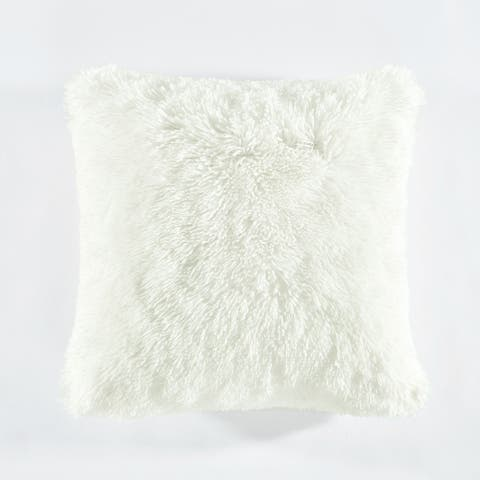 Lush Decor Emma Faux Fur Decorative Pillow Cover