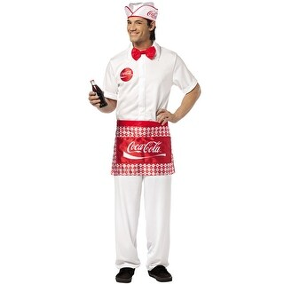 Rasta Imposta Coca Cola Soda Jerk Adult Costume - Solid - one-size