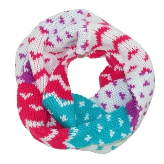 Aquarius Girls' Aztec Print Winter Scarf - White - One size