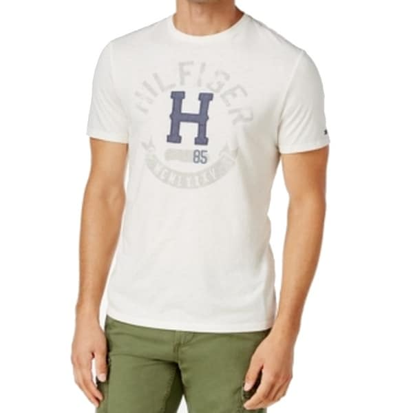 139cf02e Shop Tommy Hilfiger NEW White Ivory Mens Size 2XL Logo-Graphic Tee T-Shirt  - Free Shipping On Orders Over $45 - Overstock - 17792990