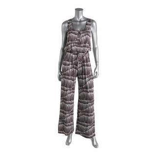 Liquid New York Womens Knit Printed Jumpsuit - M