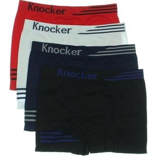 Knocker Mens Micorfiber 12PK Boxer Briefs - o/s