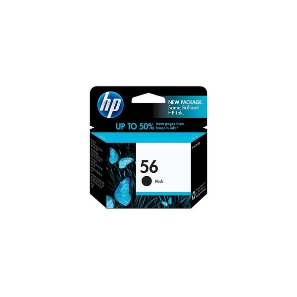 HP 56 Black Original Ink Cartridge (C6656AN) (Single Pack)