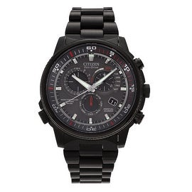 Citizen Men's AT4117-56H 'Nighthawk' Stainless Steel Chronograph Link Watch