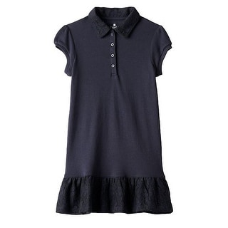 Chaps School Uniform Polo Dress Girls CCG0009H - navy