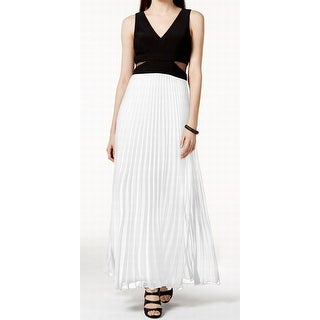 Xscape NEW Black White Women's Size 4 Empire Waist Pleated Dress