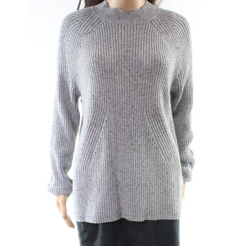 Michael Kors Gray Women's Size Large L Turtleneck Mock Sweater