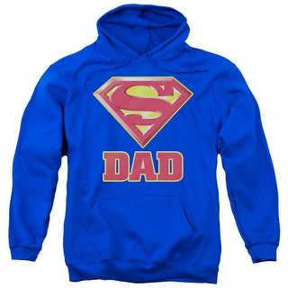 Superman Super Dad Adult Pullover Hoodie